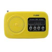 Wholesale USB Speaker Audio Music MP3 Player Sound Box FM Radio Micro SD TF Card Yellow