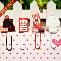 big binder clips - New Hot Big Hero cartoon bookmark school stationery office supply paper clips Metal Binder Clips Memo clips Kids Party Best Gifts