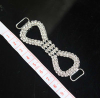 rhinestone buttons - 10pcs Crystal Rhinestone Bikini Connectors Buckle Metal Chain Buttons For Swimming Wear Bikini Decoration