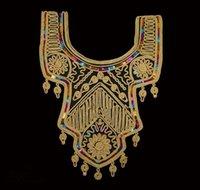 sequin applique patch - 10pieces Craft Gold Thread Flower Sequin Embroidery Lace Patches Decorated Sewing Neckline Collar Applique Trims cm cm t523