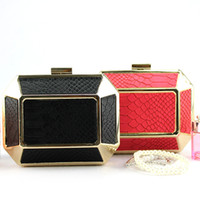 motorcycle hard bags - Luxury Red Black Bridal Handbags with Chain Wedding Accessories Single Shoulder Bags Women Evening Prom Clutches Cross Body Bags ZYY