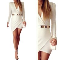 sexy mini skirt - S5Q Womens Bodycon Slim Long Sleeve Skirt Sexy Evening Party Cocktail Mini Dress AAADZD