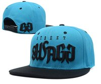 Wholesale 2016 new Street Swagg Snapbacks Hat Cap High quality baseball cap fashion hip hop cap Men women Flat Caps Swag hat Adjust caps