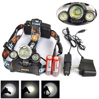 Wholesale New Hot Lumen T6 R2 mode Headlight Flashlight Linterna Frontal Headlamp Lantern Charger x18650 mAh Camping Fishing