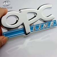 Wholesale Car OPC link metal body Badges sticker Emblem decoration accessory suitable for Opel Corsa Meriva Zafira Astra Vectra Antara Mokka