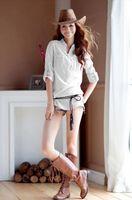Cheap 2014 new Fashion women chiffon blouses casual Stand Collar loose blouse dudalina blusas femininas Plus Size women shirts B0199