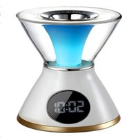 Wholesale 7 Color Hourglass Shaped Aroma Heater Radio LCD Display Screen Digital Clock Aroma Diffuser Humidifier difusor de aroma Alarm