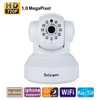 Wholesale Sricam IP Camera P x720 HD P2P Night With IR Cut H WiFi Wireless Network CCTV Camera Security Surveillance Camera Baby Monitor