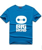 bay clothes - latest fashion men s t shirts Big hero Bay Max cotton clothing round collar T shirt men s clothing