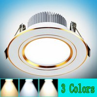 Wholesale 3W W LED downlight three kinds of color temperature lamp ceiling lamp embedded installation free delivery