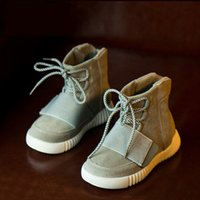 Wholesale New kids shoes girls boys shoes comfortable nubuck Genuine Leather sneakers kids shoes for girl fashion high top casaul sneakers girls shoes