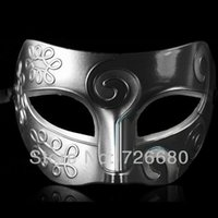 Wholesale Cool Halloween Party Venetian half mask Black Masquerade Masks Silver Black