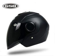 Wholesale GSB Half helmet motorcycle helmets Electric bicycle helmet Motor bike helmet casco for Men and Women