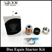 Single White Metal Dos Equis Starter Kit Box Mod RDA Premium Kit Mechanical Vapor Mod with Manta RDA Clone DHL Free