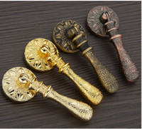 antique style cabinet hardware - 2016 European Style antique copper vintage door handle single knobs cabinet drawer pulls in kitchen furniture hardware accessory