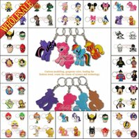 Wholesale DHL OR EMS Shipping Mine Crafts My Little Pony Avengers Keyrings Keychains Cute Keyfob PVC key chains Cartoon Character Key Chains