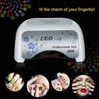 led nail lamp - fashinable W nail lamp White Red UV LED CCFL high power Polish Dryer Light Lamp Curing Tool stock in US CA AU DE