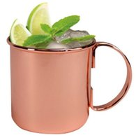 steel drums - Classic Moscow Mule Mug Drum copper plated on FDA level stainless steel copper cup solid stainless handle