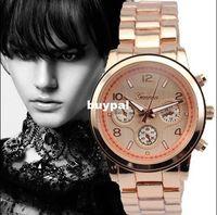 Cheap 2014 carzy sale 5color cheap metal geneva wrist watch for men women metal band case Chinese quartz movementa10c
