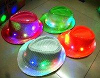 christmas decoration light - Christmas LED jazz hats cap flashing lights hat santa led hats cap christmas gift hat Men Women hats kids hats colors