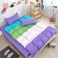 beding cover - Multi color stripe capa de edredon Bed sheet Pillow case set SP2419 Christmas beding sets comforter cover set