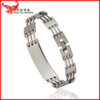 trading company - Good quality business gifts custom men s titanium steel bracelet trading company gifts