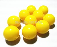 Wholesale MM new yellow Gumball Bubblegum Acrylic Solid Beads Colorful Chunky Beads for Necklace Jewelry