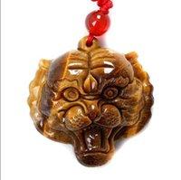 asian tigers - 100 Natural Color Jade Tiger Pendant Eye Of The Tiger Jade Pendant