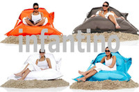 Wholesale waterproof outdoor and indoor easy clean bean bag lounger colors in stock Great Portable furniture Chair and seats COVER only here