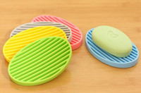 Wholesale New Silicone Flexible Soap Dish Bathroom Toilet Plate Holder Tray Fashion Soaps Case Home Accessories