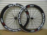 Spedizione gratuita Dura Ace C50 60 millimetri graffatrice del carbonio 700C ruota della bicicletta della strada piena Ruote Carbon superficie frenante in lega leggera Novatec 20-24H