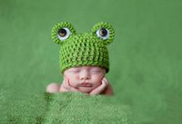 Cheap Baby Beanie Frog Crocheted Hats Cute Hand Kintted Toddler Kids Children Winter Warm Bonnet Earflap Caps Free DHL Factory Price