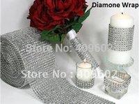 diamond mesh wrap - yard X4 inch Bling Diamond mesh Wrap ribbon Rhinestone Mesh Crystal Ribbon one roll