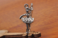 angels connectors - Top Sale pieces mm Dance Girl Charms Bead Spacer connector Pendant Tibet Silver DIY Jewelry Beads Europe Bracelet Necklace