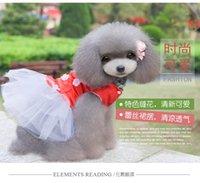 2015 primavera y verano perro Teddy VIP cinco hojas pétalo falda perro ropa mascotas suministros