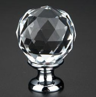 Wholesale mm Globe Crystal Knob Pulls with Silver base for Cabinet or Door
