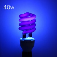 Wholesale V W W E27 Ultraviolet UV Spiral Energy Saving BlackLight Lamp With Traps Insects Stage fluorescent Lighting Bulb