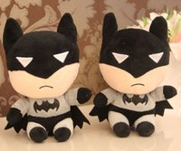 Wholesale 18cm Batman toys plush toy Children doll for phone Accessories Bag Accessories birthday gift JIA605