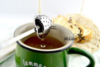 Wholesale High Quality Designer Heart Shape Stainless Steel Tea Infuser Spoon Strainer Steeper Handle Shower Tea Strainer Tool