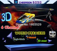 Wholesale Selling Radio Control Toys - Wholesale-2015 Hot Sell Cheerson 6050 RC Radio Remote Control Toys Helicopter 6 Channel 3D Stunt King 2.4GHz With 3-Axis Gyro 6CH 450 pro