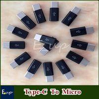 Wholesale USB Type C Male To Micro Female Data V8 Black White Converter Adapter For Nokia N1 Letv OnePlus Xiaomi C DHL