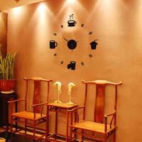 Wholesale 2016 Gustless coffee diy clock wall clock fashion acrylic combination of watches and clocks
