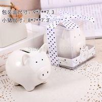 bank giveaways - wedding favor gift and baby shower giveaways for guest Lovely Ceramic White Pig Bank wedding bridal favor