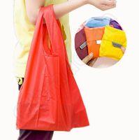 big reusable shopping bags - 13 Color Big BAGGU Nylon Foldable Eco Shopping Bag Reusable Tote Pouch Bags Waterproof Storage Good Quality JJA21