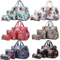 baby wipe covers - 4PCS Women Flower Floral Oilcloth Mummy Maternity Baby Diaper Nappy Changing Wipe Clean Handbag Satchel Tote Hand Bag Set L1501F