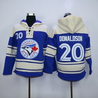 Wholesale Blue Jays Tulowitzki Blue Hoodies Jersey New Arrival Baseball Hoodies Hot Sale Sweater Lace Up Pullover Hooded Sweatshirt for Men