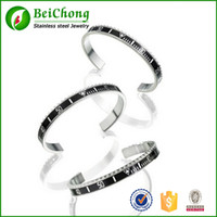 Fashion bc numbers - Italia High quality men s stainless steel cuff speedometer Offical bracelet men BC