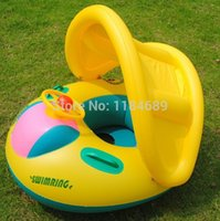 Wholesale 2014 New Arrival Hig Quality Inflatable Toddler Baby Swim Ring Float Seat Swimming Pool Seat Canopy Set