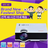 Wholesale Stock In Korea Newest HY40 led lcd p Full HD Projector Mini Pico Projector AV USB SD HDMI Proyector Home theater Beamer