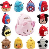 bag spiders - 2015 Retail children plush backpacks Hello Kitty bag Minnie Backpack Spider baby toy Backpack children cartoon bag kid toy bag
